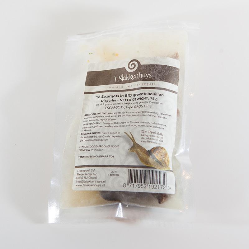 12 gegaarde escargots op bouillon