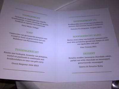 Fête menu 2015