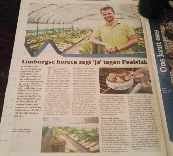 De Peelslak in De Limburger